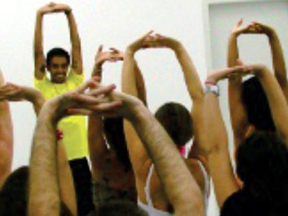 Mini-aula de dança surpresa