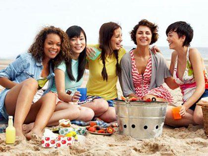 Piquenique na praia + jogos de praia