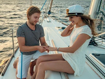 Num veleiro