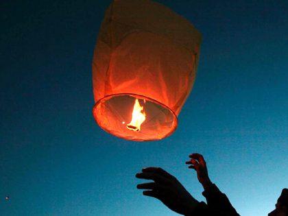 Largada de balões chineses (São João)