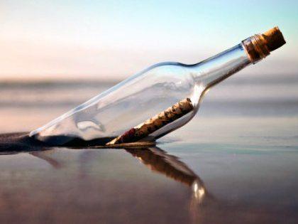 Entrega surpresa – Mensagem numa garrafa