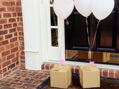 Entrega surpresa – Mensagem numa caixa