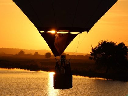 Passeio romântico a 2 de balão de ar quente